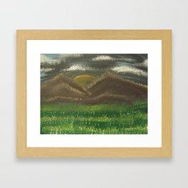 Cloudy Mountains  Framed Art Print