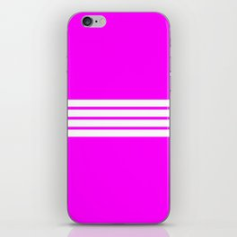 4 Stripes on Pink iPhone Skin