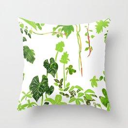 Rainforest Foliage Throw Pillow