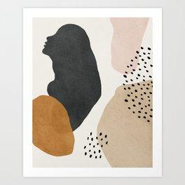 Woman silhouette art, Mid century modern art Art Print