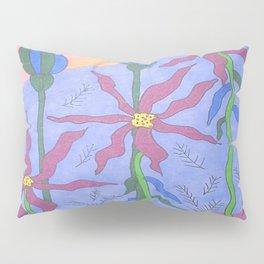 Blue Bohemian Garden Art Pillow Sham