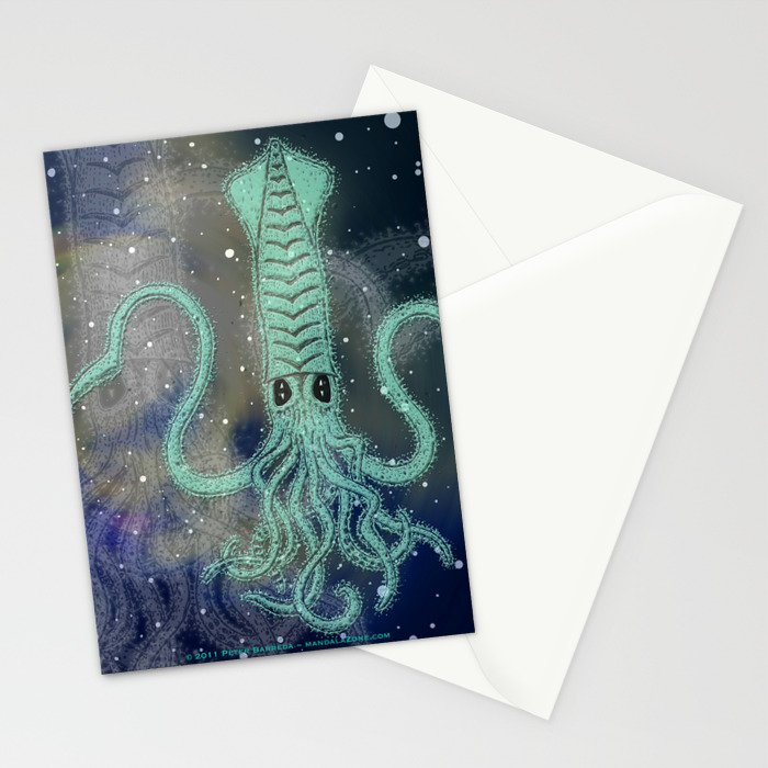 óbu exotica gallery mandala Stationery Cards