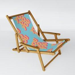 You Do You Retro Blue Sling Chair