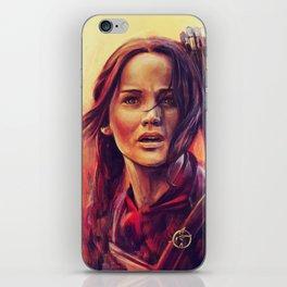 Girl on Fire iPhone Skin