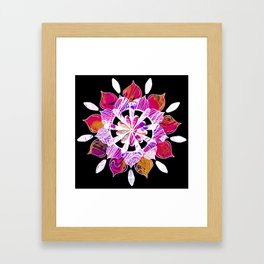 Simple Pleasures - Fractal Inverted Color Version Framed Art Print