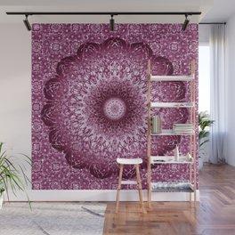Cabernet Lace Mandala Wall Mural