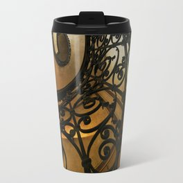 Spiral staircase with ornamented handrail Travel Mug