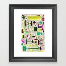 Modern Furniture Collage Framed Art Print