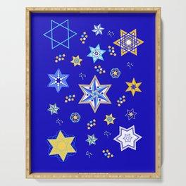 Embellished Stars of David Serving Tray