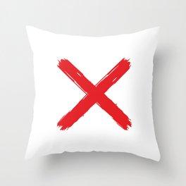 Red X on white background. #society6 #decor #buyart #artprint Throw Pillow