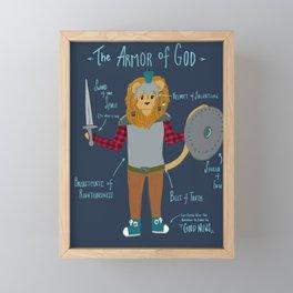 Armor of God Lion Illustration For Children Framed Mini Art Print
