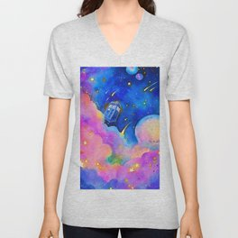 Through Time and Space (Dr Who) Unisex V-Neck