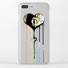 Rainbow Heartbleed Clear iPhone Case