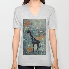majestic series: this and that giraffe Unisex V-Neck