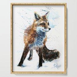 Fox watercolor Serving Tray