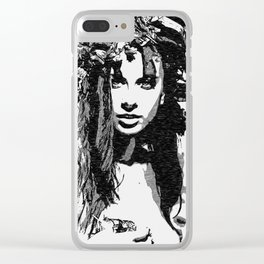 Water Nymph - sexy girl conte, beautiful brunette topless, hot girl nude outdoors, sensual erotic Clear iPhone Case