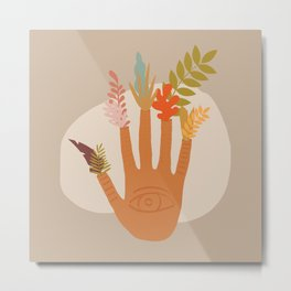 The Hand of Nature Metal Print
