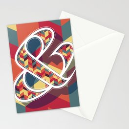 Chevron Ampersand Stationery Cards