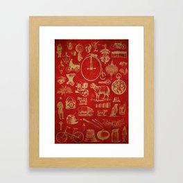Found Engravings Framed Art Print