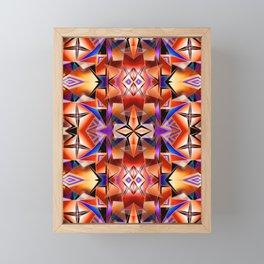 Teleport II - Fire Pattern Framed Mini Art Print