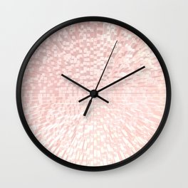 ROSE GOLD 3D GLITTER Wall Clock