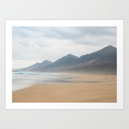 Wild hazed beach across the Canary Islands Art Print