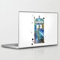 tardis Laptop & iPad Skins featuring Tardis by Beth Naeyaert