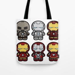 Chibi-Fi Iron Man Movie Armory Tote Bag