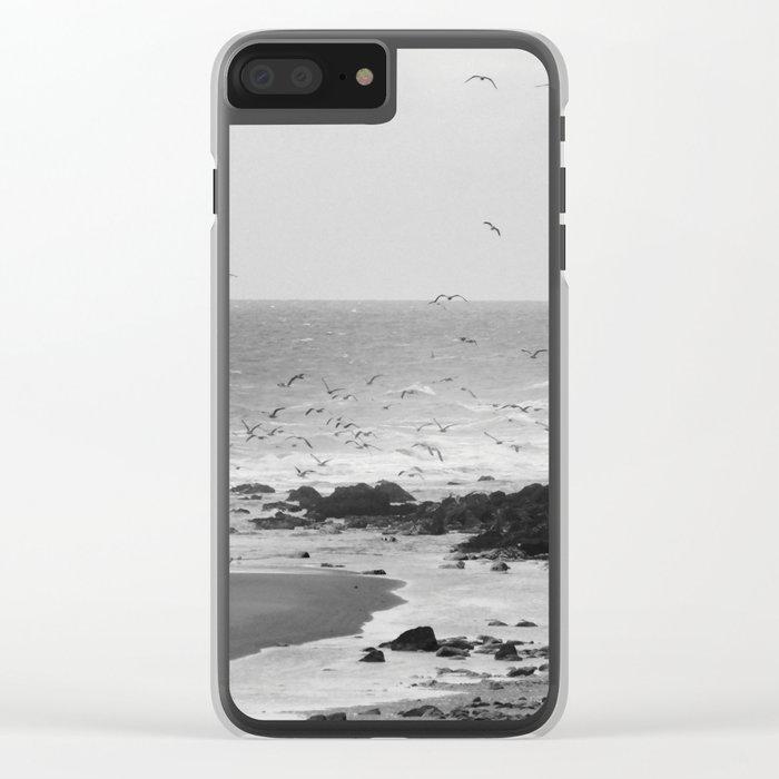 Beach, Calais, France. Clear iPhone Case