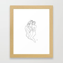 moody girl 3- menage a trois  Framed Art Print