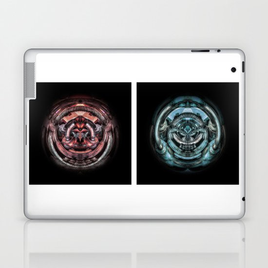 The caterpillar machinery red and cyan brothers Laptop & iPad Skin