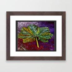 Painted Leaf Framed Framed Art Print