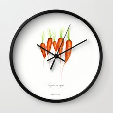 Carrots - Together we grow Wall Clock