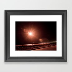 Night Crawling Framed Art Print