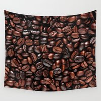coffee Wall Tapestries featuring Coffee by Vickn