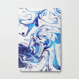 Azure Dragon Marble Metal Print