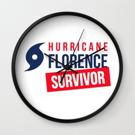 North Carolina / South Carolina - Hurricane Florence Survivor Wall Clock