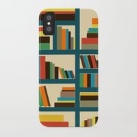 library iPhone & iPod Cases featuring library by vitamin
