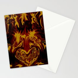 Fire Heart Stationery Cards