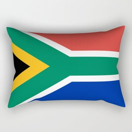 Flag of South Africa, Authentic color & scale Rectangular Pillow