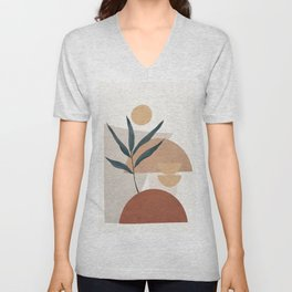 Shapes and Branches 01 Unisex V-Neck