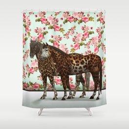 Leopard Horses Shower Curtain