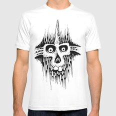 Skully Line MEDIUM White Mens Fitted Tee