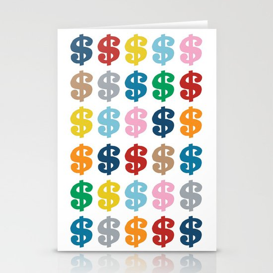 Colourful Money 48 Stationery Cards
