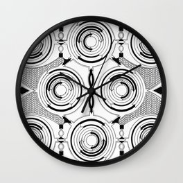 Ouroboros Serpent Animal Minimalistic Geometry Wall Clock