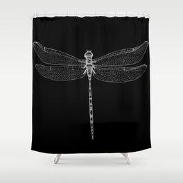 Night Flyer Shower Curtain