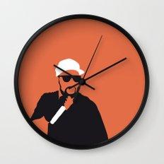 No073 MY WuTangClan Minimal Music poster Wall Clock