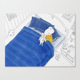Sleep Little Thomas Canvas Print