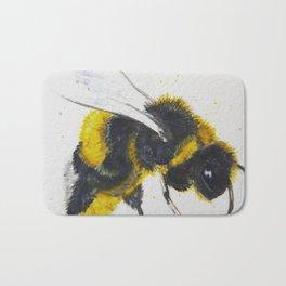Watercolor Bumble Bee Bath Mat