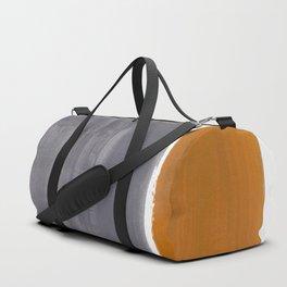 Minimalist Mid Century Modern Colorful Color Field Rothko Orange Grey Yellow Ochre Duffle Bag